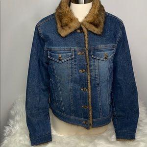 Vintage Marvin Richards Denim Faux Fur Size M